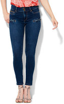 New York & Co. Soho Jeans Zip-Accent High-Waist SuperStretch Legging - Contour Blue Wash