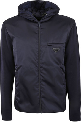 Prada Chest Pocket Detail Zip Hooded Jacket