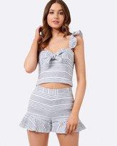 Forever New Trinity Stripe Linen Shorts