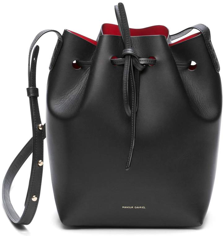 Mansur Gavriel Black Mini Bucket Bag - Flamma