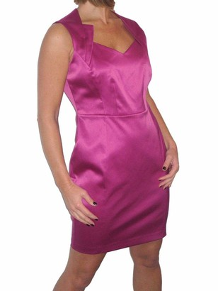 Icecoolfashion Womens Sleeveless Bodycon Dress Ladies Sexy Satin Lined Above Knee Special Occasion Evening Cocktail Party Dress Purple 8-14 (14)