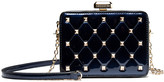 Mkf Collection By Mia K. MKF Collection by Mia K. Women's Handbags - Blue Quilted Stud-Accent Clutch
