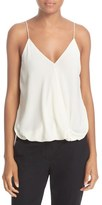 Theory 'Kashya' Drape Front Silk Georgette Camisole