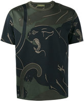 Valentino Rockstud panther print T-shirt - men - Cotton - S
