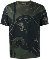 Valentino Rockstud panther print T-shirt - men - Cotton - XS