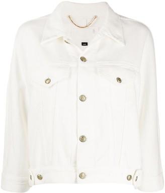 Ports 1961 Crop-Sleeve Denim Jacket
