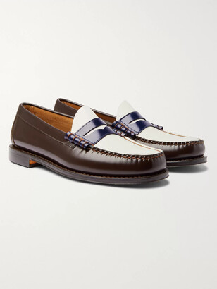 Weejuns Heritage Larson Colour-Block Leather Penny Loafers