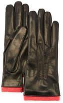 Mario Portolano Leather Gloves w/ Cashmere Trim