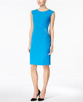 Kasper Zip-Pocket Sheath Dress