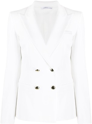 Amen Double-Breasted Fitted Blazer
