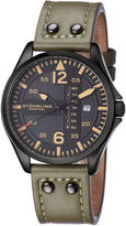 Stuhrling Original Mens Green Strap Watch-Sp15163