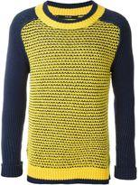 Sibling mesh crew neck sweater