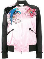 Valentino tropical sequinned bomber jacket - women - Silk/Cotton/Polyamide/Metallic Fibre - 40