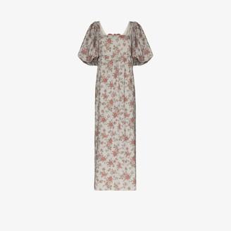 Masterpeace Floral Print Maxi Dress