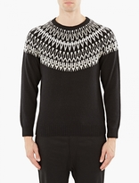 White Mountaineering Black Fairisle Knitted Sweater
