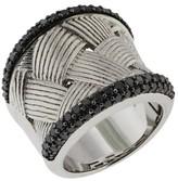 Effy Jewelry Effy 925 Sterling Silver Black Diamond Ring, 1.23 TCW