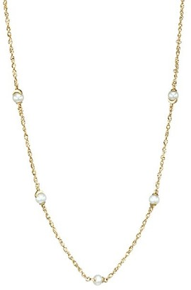 Celara 14K Yellow Gold & 4MM Pearl Moon Station Necklace