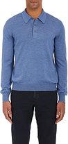 Barneys New York Men's Virgin Wool Polo Sweater-BLUE