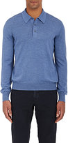 Barneys New York MEN'S VIRGIN WOOL POLO SWEATER