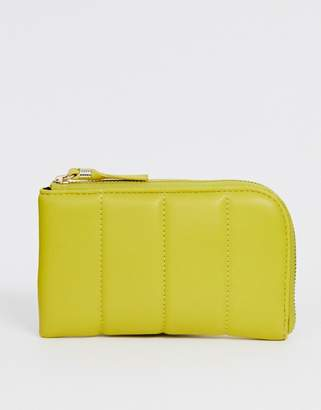 French Connection Edie padded zip ladies' wallet-Yellow