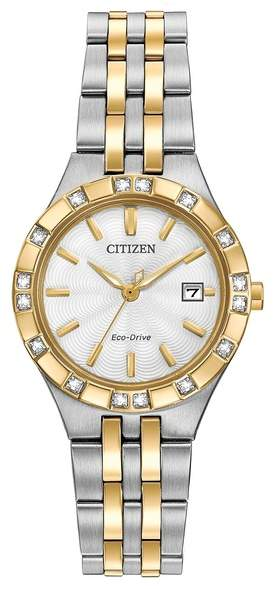 Citizen Women's Eco-Drive Two-Tone Stainless Diamond Bracelet Watch, 27mm - 0.0053 ctw