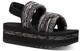 Teva Women's Flatform Ceres Embroidery-Fringe Platform Sandals