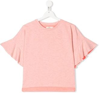 Andorine TEEN flared-sleeves top
