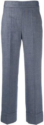 Incotex Striped Straight-Leg Trousers