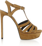 Saint Laurent Bianca suede sandals