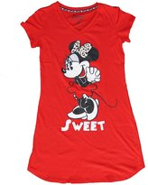 Disney Classic Minnie Mouse Nightie T Shirt - Minnie Front and Back- Red