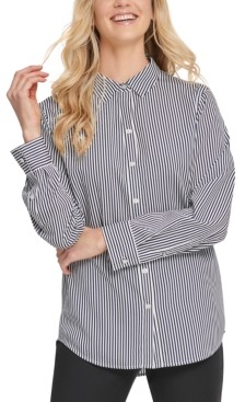 DKNY Striped Button-Front Shirt