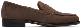 Officine Generale Brown Suede Mika Penny Loafers