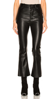 Unravel Crop Flare Leather Pants