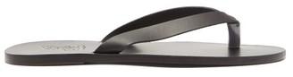 Ancient Greek Sandals Hero Leather Flip Flops - Mens - Black