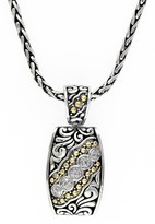 Effy Jewelry Effy 925 Sterling Silver and 18K Yellow Gold Diamond Pendant, 0.10 TCW
