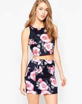 AX Paris Crop Top in Floral Print
