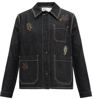 Ssone X Ressone - Craft Hand-embroidered Denim Jacket - Black