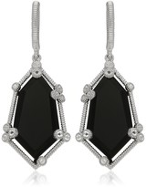 Judith Ripka Sterling Silver Martinique Organic Stone Hanging Earrings