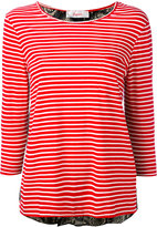 Jucca three-quarters sleeve striped T-shirt