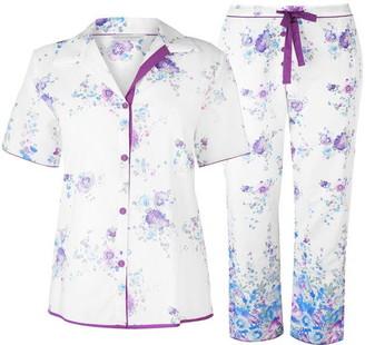 Cyberjammies Floral Short Sleeve Pyjama Set Womens