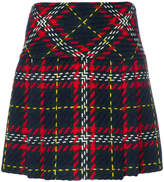 Miu Miu plaid tweed mini skirt