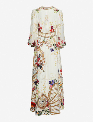 Camilla Fairy Godmother floral-print silk maxi dress