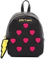 Betsey Johnson Collegiate Heart Small Backpack