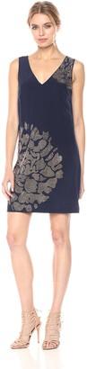 Trina Turk Women's Glitterati Heat Seal Embellished Silk Dress
