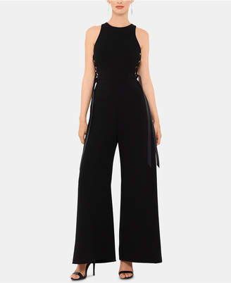 Xscape Evenings Crepe Side-Tie Jumpsuit