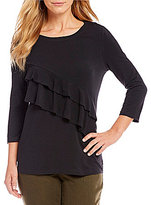 Westbound 3/4 Sleeve Ruffle Top
