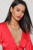 Nasty Gal nastygal Shake Down Fringe Necklace