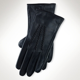 Ralph Lauren Whipstitched Leather Gloves
