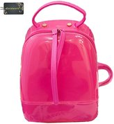 Donalworld Summer Jelly Backpack Waterproof PVC School Bag Silicone Bag