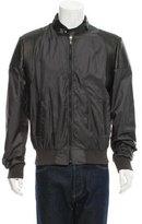 Maison Margiela Nylon Leather-Trimmed Jacket